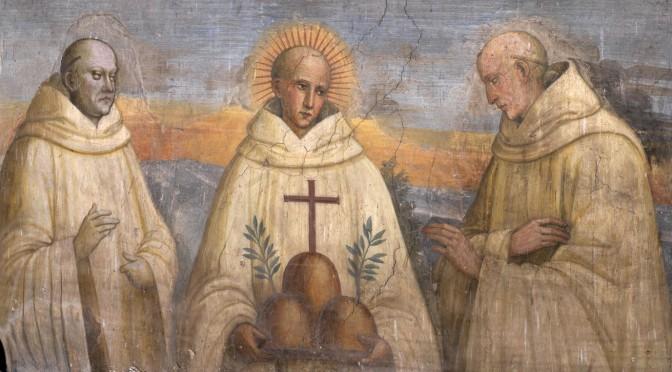 Fresque des trois fondateurs qui se trouve à Monte Oliveto