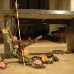 Branche morte fleurie.