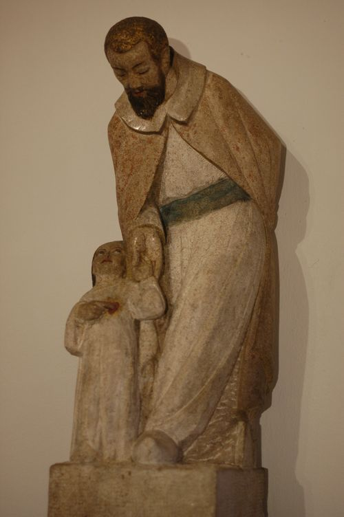Statue de Saint Joseph réalisée par Henri Charlier.