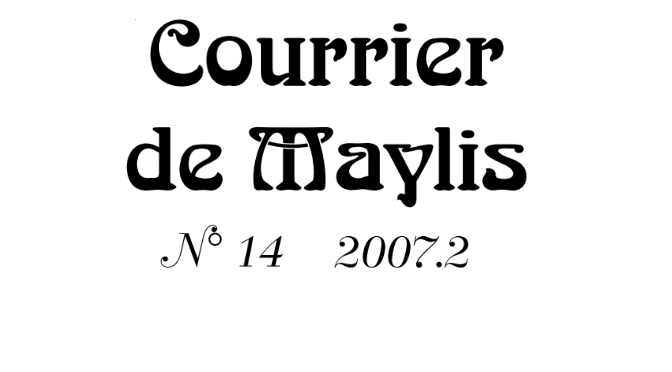 Courrier 14, Septembre 2007