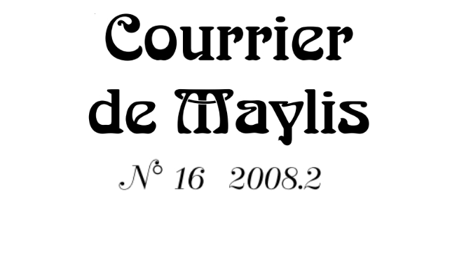 Courrier 16, Juin 2008