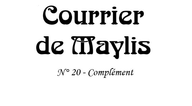 Courrier 20, 2010 – Complément