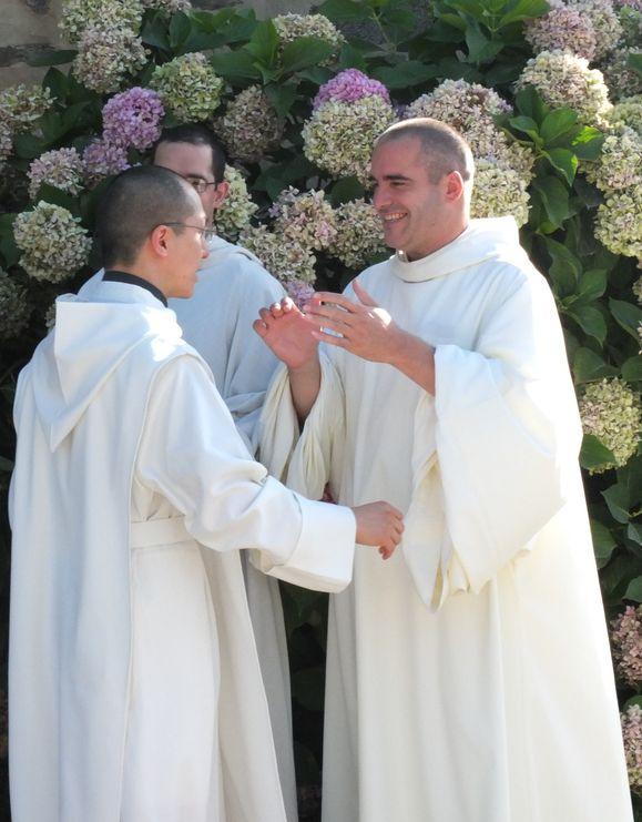 Accolade de frère Jérémie et frère Joseph