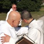 Accolade de frère Jérémie et frère Thibaud