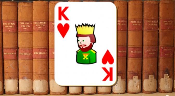 Carte du roi de coeur pour un conte sur la miséricorde