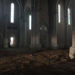 église vide et nettoyée, en terre