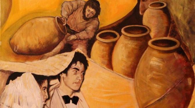 Cana peint par le père Vincent pour le 2e dimanche ordinaire C