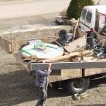 La table d'autel dans le camion