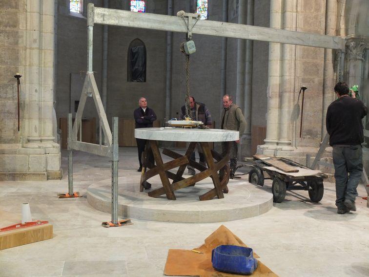 L'autel mis en place