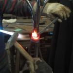 travail sur du métal rougi au feu
