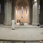 première mise en place de l'autel