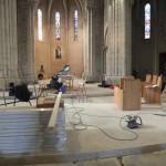 premières stalles dans le choeur de l'église