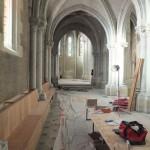 installation des protections chauffage dans l'église