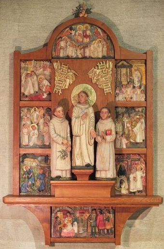 Retable de Saint Bernard Tolomei et ses compagnons en entier