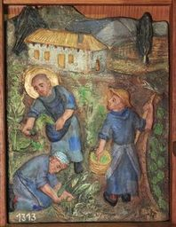 Bernard et ses compagnons travaillent la terre à Accona