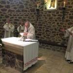 Messe à la Vieille église, durant la prière eucharistique, au moment du mémorial de la dernière Cène
