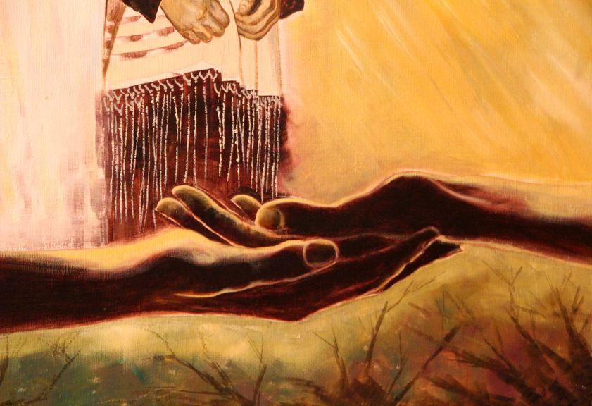 mains qui se donnent