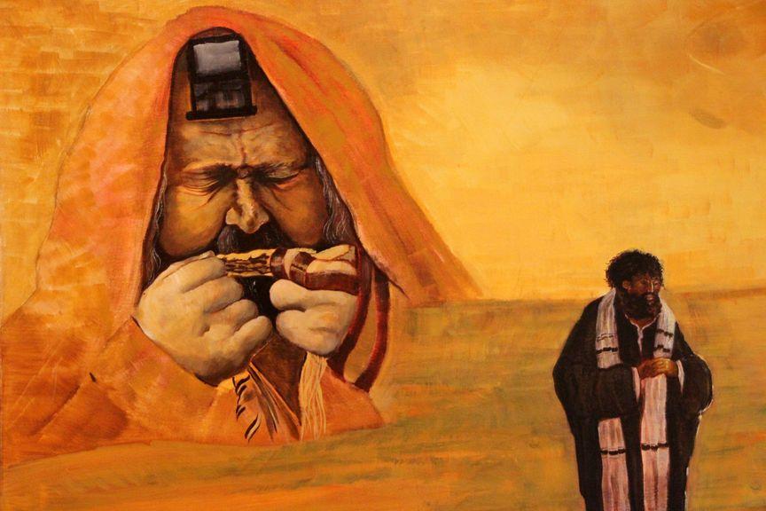 Juifs priant