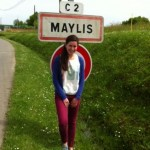 Maylis immortalise son passage