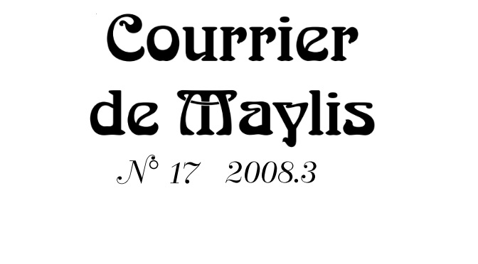 Courrier 17, Septembre 2008