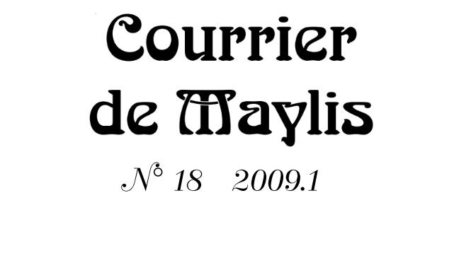 Courrier 18, 2009