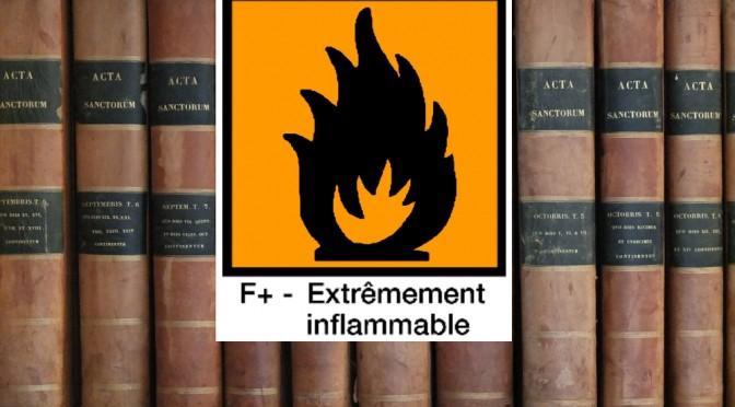 Panneau d'avertissment extrêmement inflammable