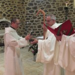 Le novice reçoit la Règle de Saint Benoit