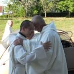 Accolade de frère Jérémie et frère Cyril