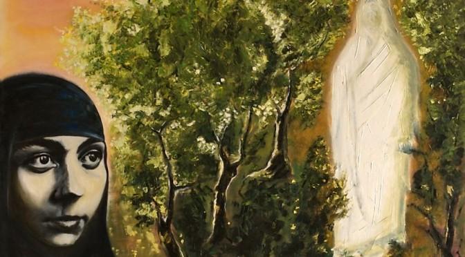 Femme et Jésus ressuscité, peinture du frère Vincent